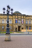 Building of Old Masters Gallery in Dresden, — 图库照片