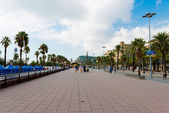 Street in port Vell, Barcelona — Stock fotografie