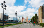 Venetian Tower on Espanya square — Stock Photo
