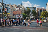 Pedestrians in downtown of Istanbul — Foto Stock