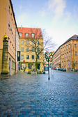 Street of Nuremberg . Bavaria, Germany. — Stock Photo