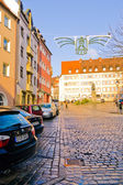 Street of Nuremberg . Bavaria, Germany. — Foto de Stock