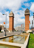 Venetian Tower on Espanya square — 图库照片