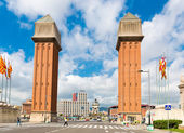 Venetian Tower on Espanya square — Photo