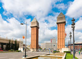 Venetian Tower on Espanya square — Stok fotoğraf