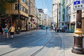 People are in downtown of Istanbul — 图库照片