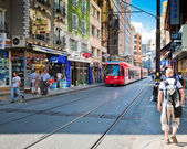 People are in downtown of Istanbul — Foto Stock