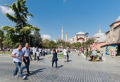 People in downtown of Istanbul — Stock fotografie