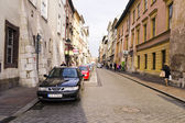 Street in historical center of Krakow — Стоковое фото