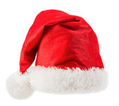 Santa Claus red hat isolated on white background — Stock Photo