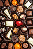 Box of Assorted Chocolates for Valentine's Day — Stock Photo