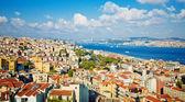Istanbul pohled od Galatské věže — Stock fotografie