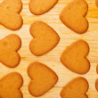 Heart shaped cookies on wooden table background — Stock Photo #39093173