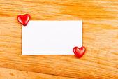 Boş not ve hearts — Stok fotoğraf