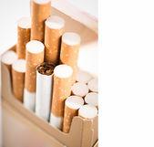 Tobacco in cigarettes — Stock Photo