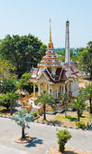 Buddhist stupa in Wat Chalong temple, Thailand  — ストック写真