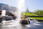 Samson Fountain of the Grand Cascade near Peterhof Palace. — Stock Photo