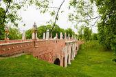 The big bridge in Tsaritsyno, Moscow, Russia  — Stock Photo