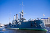 Aurora cruiser museum, Saint-Petersburg, Russia  — Stock Photo