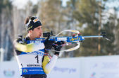 Martin Fourcade (FRA) )  at Biathlon — Stock Photo