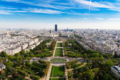 Panoramic view of Paris and Seine river — Stock Photo