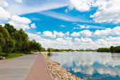Moscow River and  in Kolomenskoye — Foto Stock