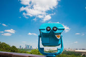 Binoculars overlooking for Moscow  — Стоковое фото