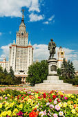 Lomonosov monument — Stock Photo