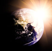 Earth and sun — Stock Photo