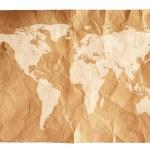 Grunge world map background — Stock Photo #48730735