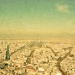 Paris aerial view from Montparnasse tower — Stock Photo #48730425