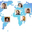 Photo of people at world map. — Stock Photo #48730449