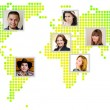 Photo of people at world map. — Stock Photo #48730451