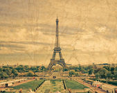 Paris, the beautiful Eiffel Tower. — Stock Photo