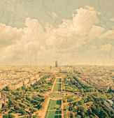 Aerial panoramic view of Paris and Seine river — Стоковое фото