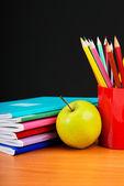 Schoolchild and student studies accessories. — Stock Photo