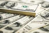 Stack of one hundred dollar bills — Stock Photo
