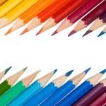 Crayons isolated on white background — Stock Photo #8185668