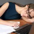 Tired business woman — Stock Photo #5301492