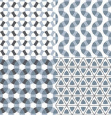 Geometric seamless patterns set. — Stock Vector