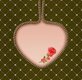 ビンテージ ロマンチックなグリーティング カード. — ストック写真