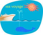Sea Voyage — Stock Vector