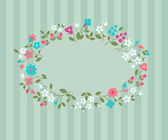 Floral greeting card. — Stock Vector
