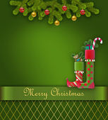 Christmas greeting card. — Stock Photo