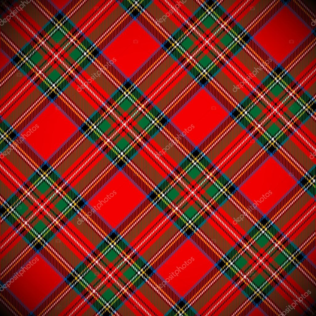 Royal Stewart tartan / vector illustration with detailed texture — Imagen vectorial #16229613