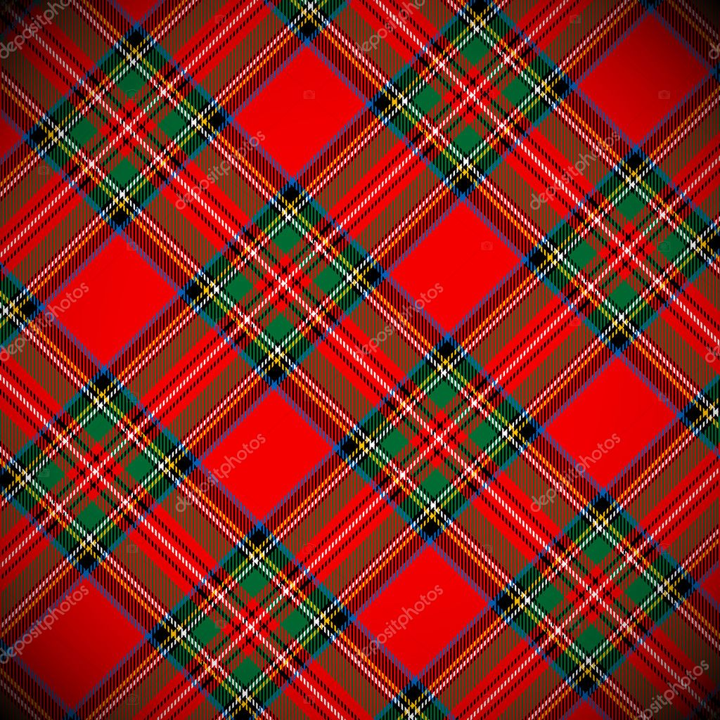 Royal Stewart tartan / vector illustration with detailed texture — Vettoriali Stock  #16229613