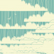 Clouds / retro background — Image vectorielle