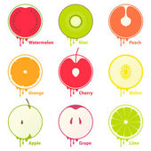Fruits icons / design elements — Stock Vector