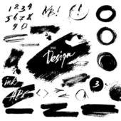 Inkt grunge ontwerpelementen — Stockvector