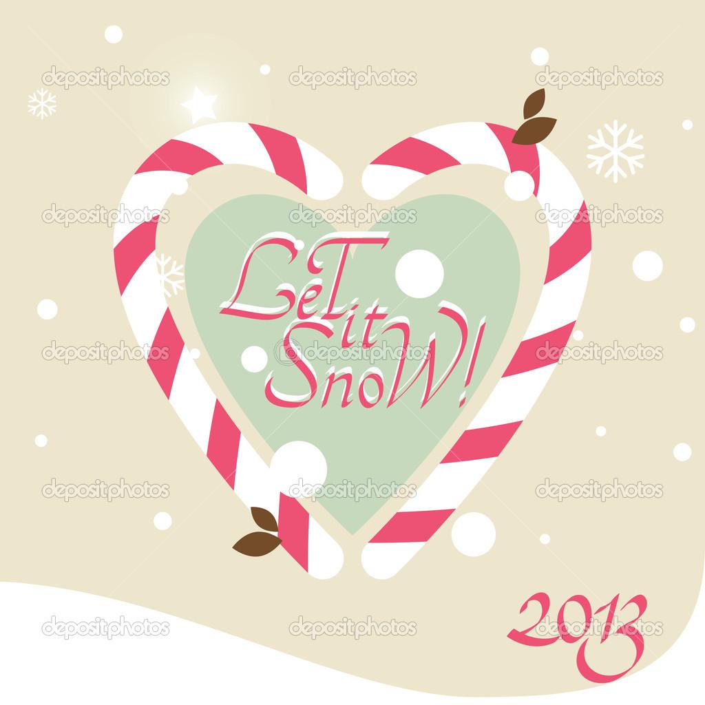 矢量圣诞卡片 tikir1  圣诞姜饼饼干和糖果手杖 paulgrecaud  雪人